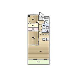 ベルハイツ司[6階]の間取り