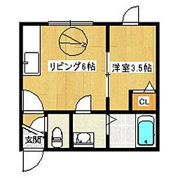 エルムN23 B棟[2階]の間取り