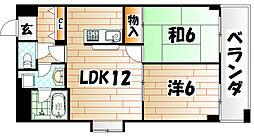 ダイナコート小倉城野[7階]の間取り