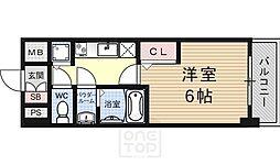 プレサンス京都烏丸 爛都[10階]の間取り