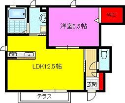 シャーメゾン稲田本町A棟[1階]の間取り