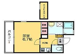 ウィングハウス[2階]の間取り