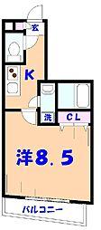 第15モリマンション[603号室]の間取り