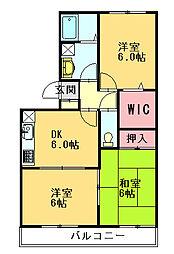 ハイカムール・エルC[2階]の間取り