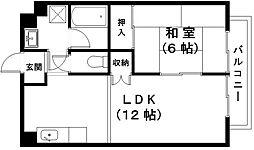 滋賀県近江八幡市出町の賃貸マンションの間取り