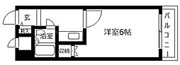 大阪府大阪市中央区大手前1丁目の賃貸マンションの間取り