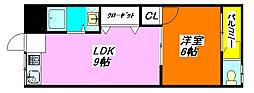 ターフィーズ・フラット・菱屋西 401号室[4階]の間取り