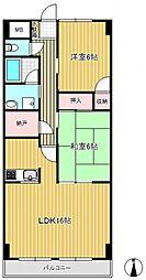 ロマーナ壱番館[6階]の間取り