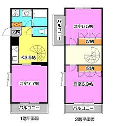 [テラスハウス] 東京都西東京市東町2丁目 の賃貸【東京都 / 西東京市】の間取り
