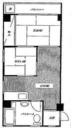 コーポスリーエム[3階]の間取り