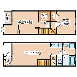 フラン神戸[10号室]の間取り