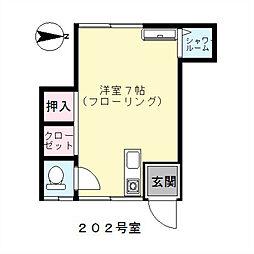 東京都足立区大谷田1丁目の賃貸アパートの間取り