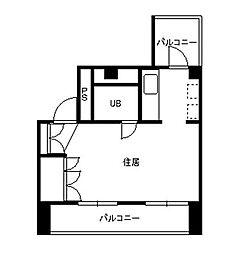 伊勢佐木町ロイヤル[8階]の間取り