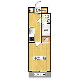 コンフォート深草[3階]の間取り