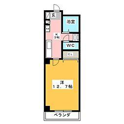 アーバンシティ三好[5階]の間取り