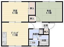 マルベリーハウス[203号室]の間取り