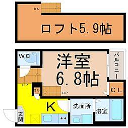 リブフラット藤江[1階]の間取り