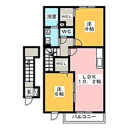 セプトクルール[2階]の間取り