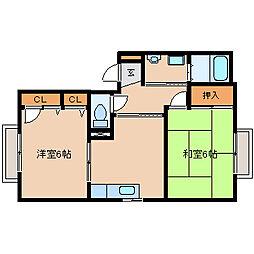 兵庫県尼崎市塚口町3丁目の賃貸アパートの間取り