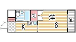 ローズマンションII[3F号室]の間取り