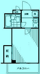 クレセントユニ二子新地[3階]の間取り