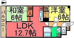 東京都江戸川区上一色1丁目の賃貸マンションの間取り