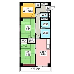 レジデンス新居[4階]の間取り