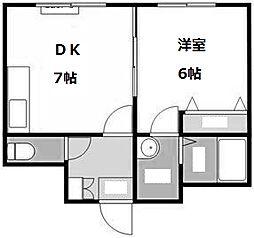シャトー山崎[4階]の間取り