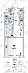 エステムコート難波WEST-SIDEVIグラッド[7階]の間取り