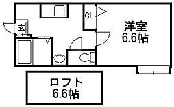 北海道札幌市西区発寒七条12丁目の賃貸アパートの間取り