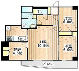 テゾーロ麻生柿生[504号室]の間取り