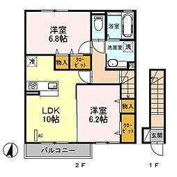 (仮)D‐room桜区南元宿2丁目 I[203号室]の間取り