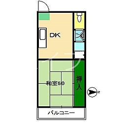 新和ハイツ[3階]の間取り
