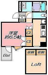 兵庫県神戸市灘区城内通5丁目の賃貸マンションの間取り