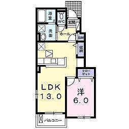 JR鳴門線 金比羅前駅 5.5kmの賃貸アパート 1階1LDKの間取り