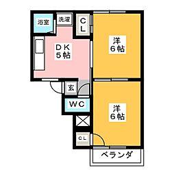 フォーブル伊藤[1階]の間取り