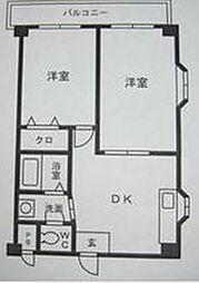 ル・ベール百道西[1階]の間取り