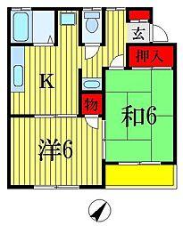 メゾングリーンパーク S-1[1階]の間取り