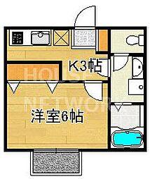 エスタシオン泉川[202号室号室]の間取り
