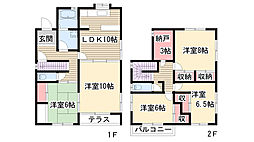 [一戸建] 愛知県長久手市長配2丁目 の賃貸【/】の間取り