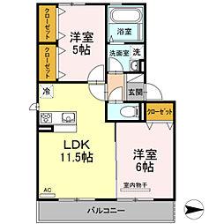 仮)D-room今保 A棟[3階]の間取り