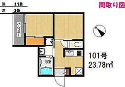 SMILEAX博多駅東[1階]の間取り