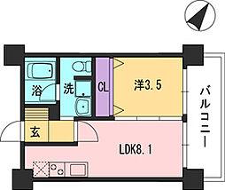 コンダクト福岡東[7階]の間取り