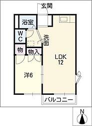 KUR HAUS S[2階]の間取り