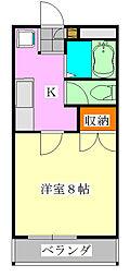 アルモ津田沼[4階]の間取り