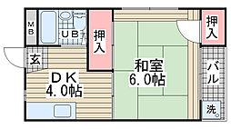 高山マンション[305号室]の間取り