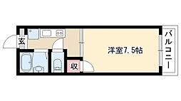 愛知県名古屋市昭和区南分町6丁目の賃貸アパートの間取り