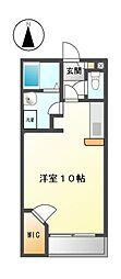 愛知県半田市横川町1丁目の賃貸アパートの間取り