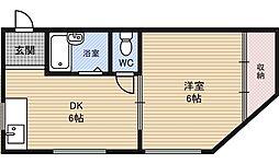 栄孝マンション[4階]の間取り