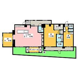 梅園ファミール[1階]の間取り